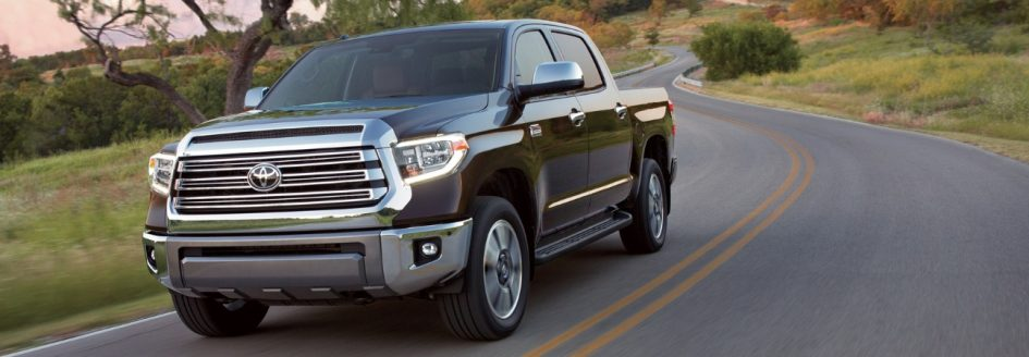 A 2019 Toyota Tundra driving down the road