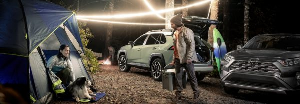 2019 Toyota RAV4 at camp site