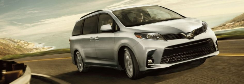 2020 Toyota Sienna driving down the highway